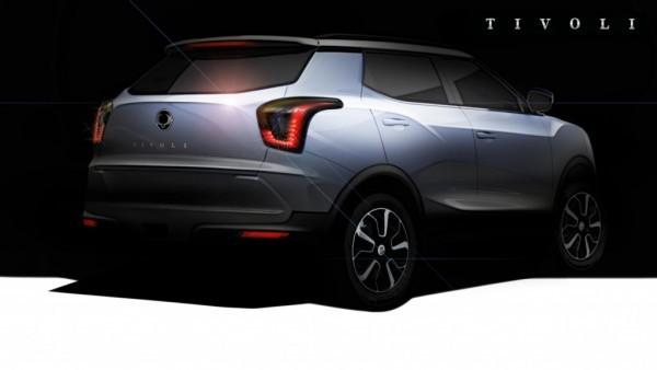 SsangYong Tivoli compact SUV rear profile