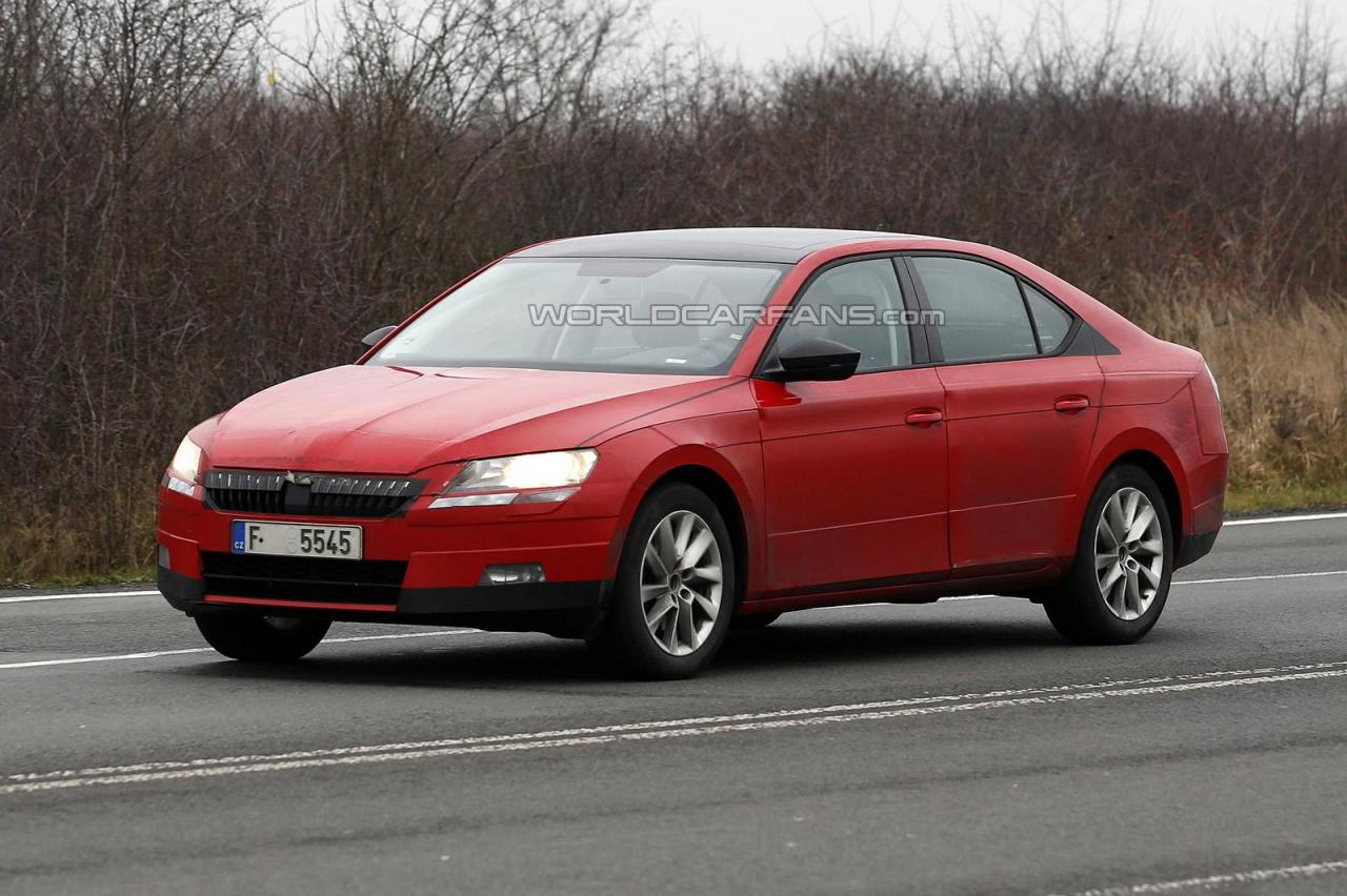 2016 skoda superb saloon spied clear pictures details inside. Black Bedroom Furniture Sets. Home Design Ideas