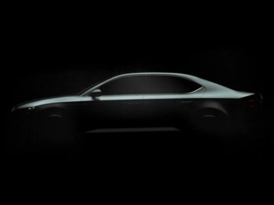 2016 Skoda Superb teaser side profile