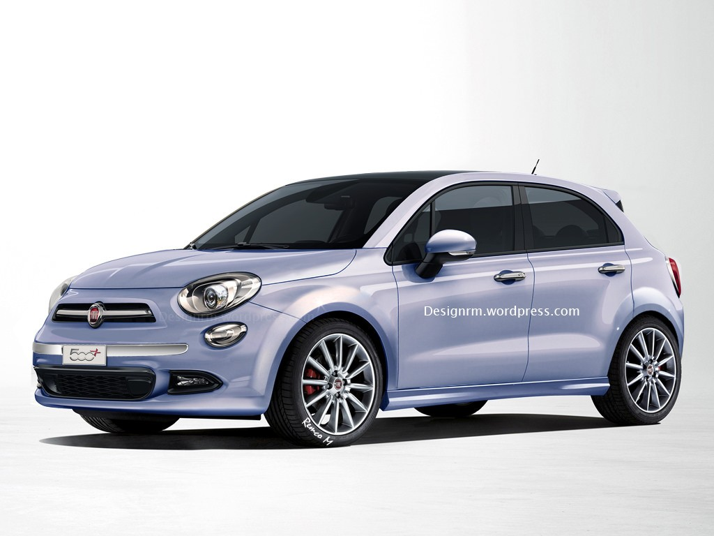 Fiat 500 Plus rendered