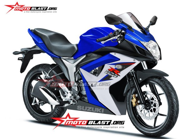 Fully Faired Suzuki Gixxer 155 (GSX-R 150) rendered