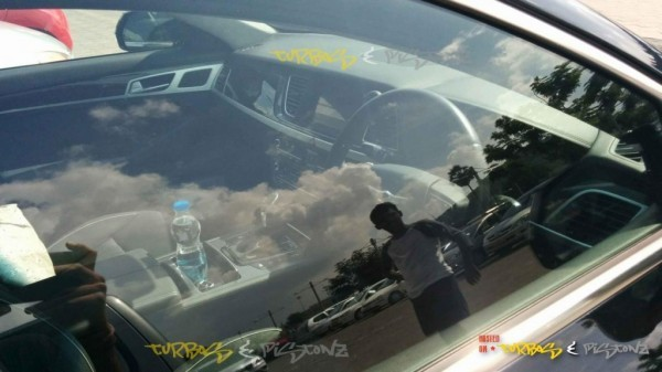 Hyundai Genesis sedan interiors spied
