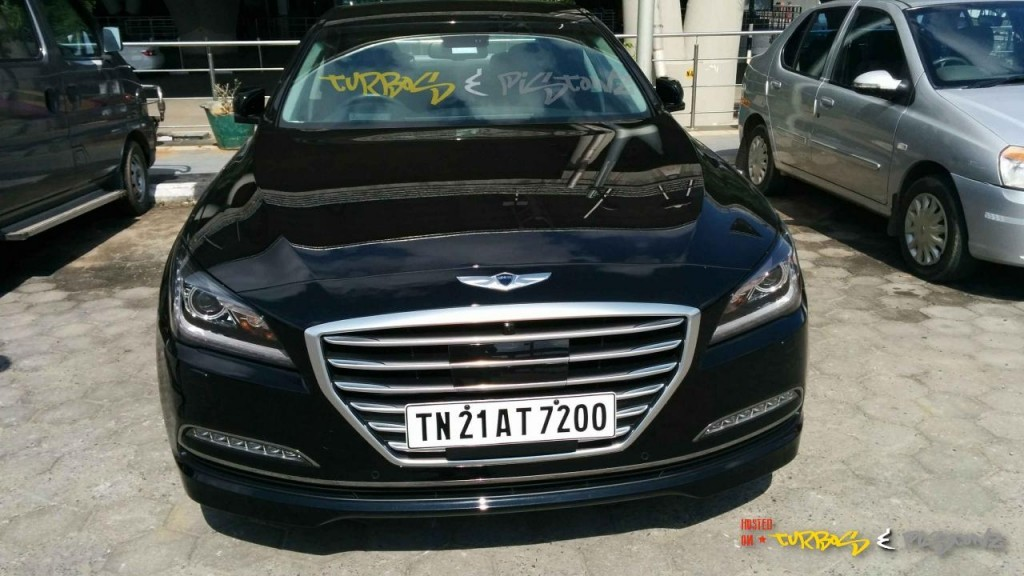 Hyundai Genesis sedan spied in India