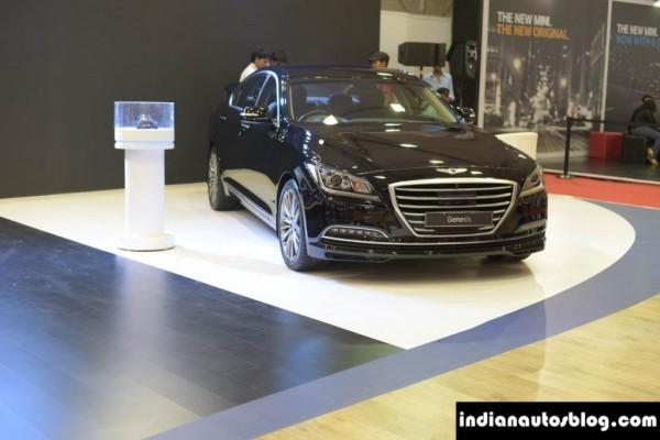 Hyundai Genesis showcased in India grille