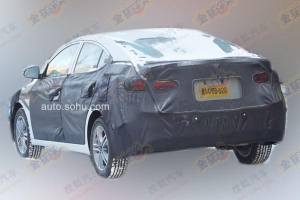 Next-gen 2016 Hyundai ELantra spied rear profile