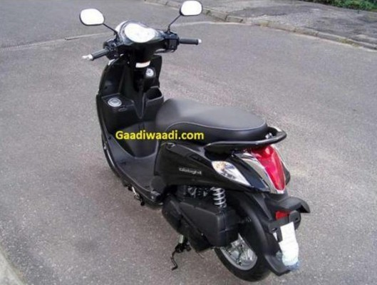 Yamaha Delight Scooter spied rear