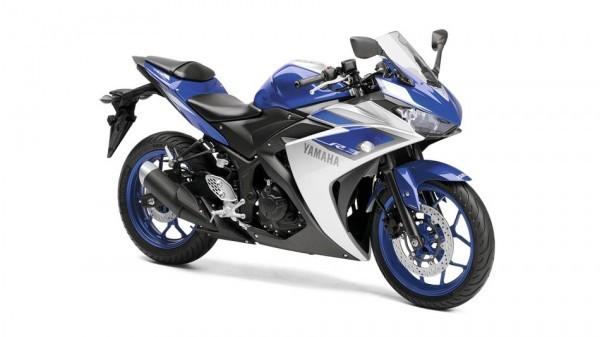 Yamaha YZF R3 in race blue shade