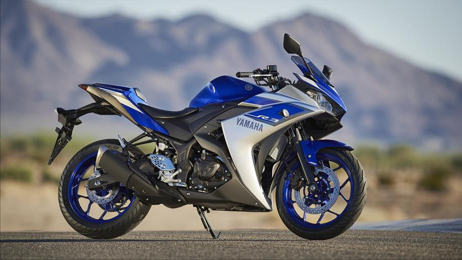 Yamaha YZF R3 sports bike
