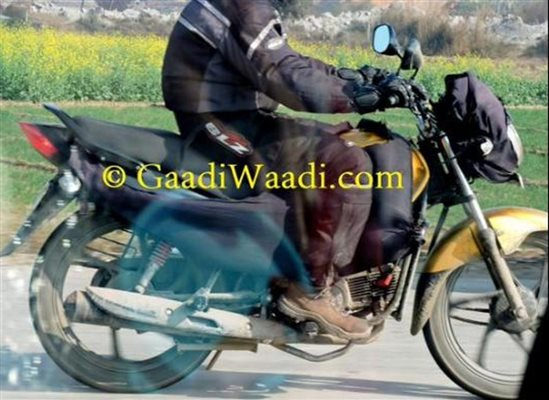 Hero Passion XPro facelift spied testing side profile