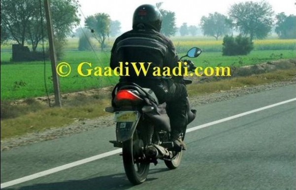 Hero Passion XPro facelift spied testing tail