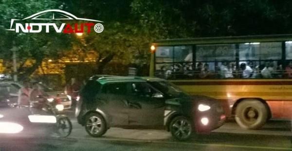 Hyundai ix25 compact SUV spied in Chennai