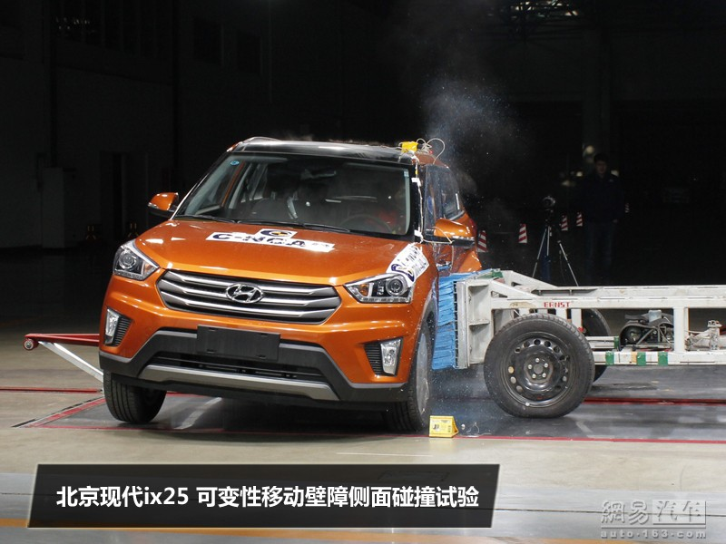 Hyundai ix25 crash test in China