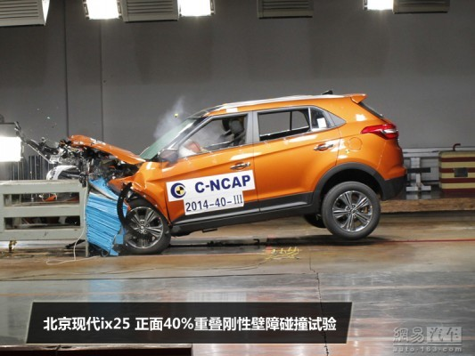 Hyundai ix25 frontal crash test