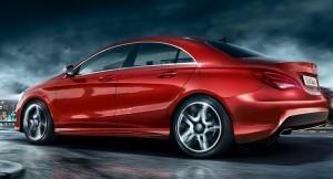 Mercedes CLA Class sedan side profile