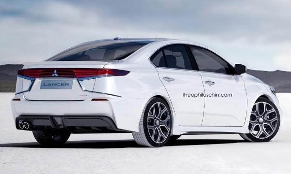 Next generation Mitsubishi Lancer rendered rear end