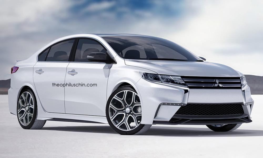 Next generation Mitsubishi Lancer rendered