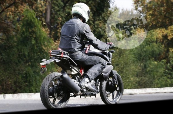TVS BMW K03 300cc motorcycle spied rear