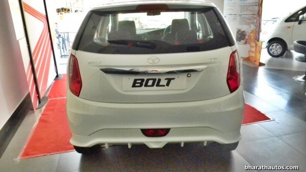 Tata Bolt with sporty Body Kit rear profile