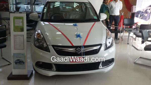 2015 Maruti Swift Dzire facelift arrives at dealership