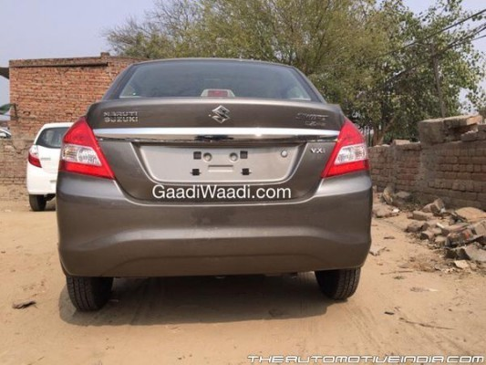 2015 Maruti Swift Dzire facelift rear end