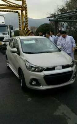 2016 Chevrolet Beat (Spark) spied front profile