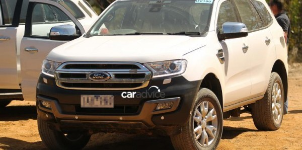 2016 Ford Endeavour Spied off-road front