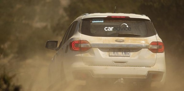 2016 Ford Endeavour Spied off-road rear