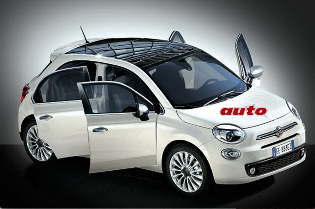 Fiat 500 Plus - five-door version rendered