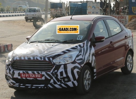 Ford Figo sedan spied in India