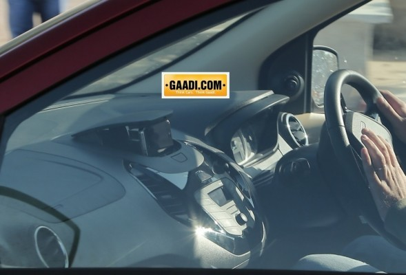 Ford Figo sedan spied in India interiors