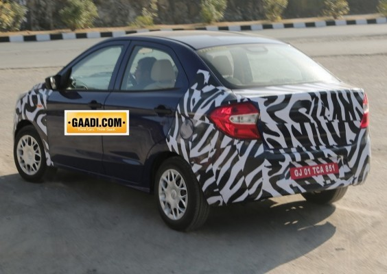 Ford Figo sedan spied in India rear