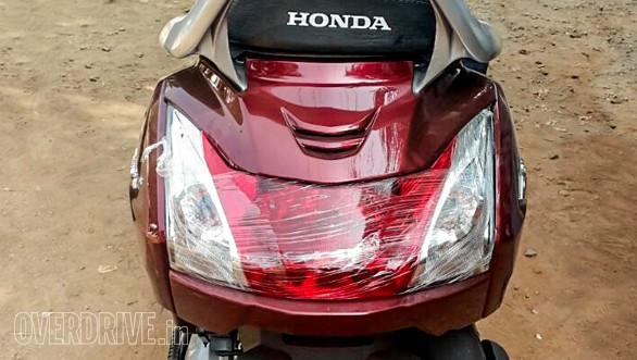 New Honda Activa 3G spied rear profile