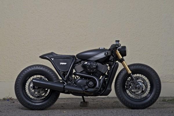 RCM Harley Davidson Street 750 Cafe Racer side profile