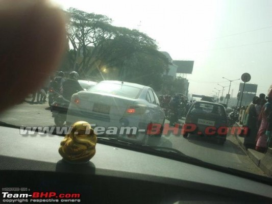 Toyota Vios sedan spied in India 2