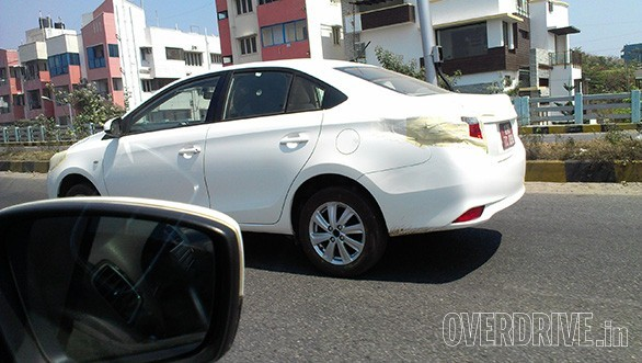 Toyota Vios spied in Bangalore side