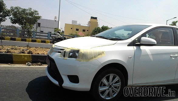 Toyota Vios spied in Bangalore