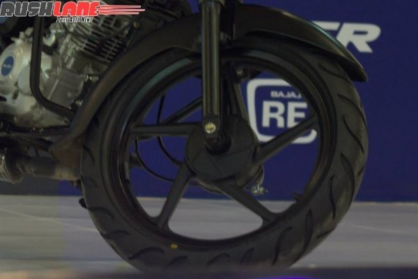 Bajaj Cafe Racer Boxer 150 front alloy wheels