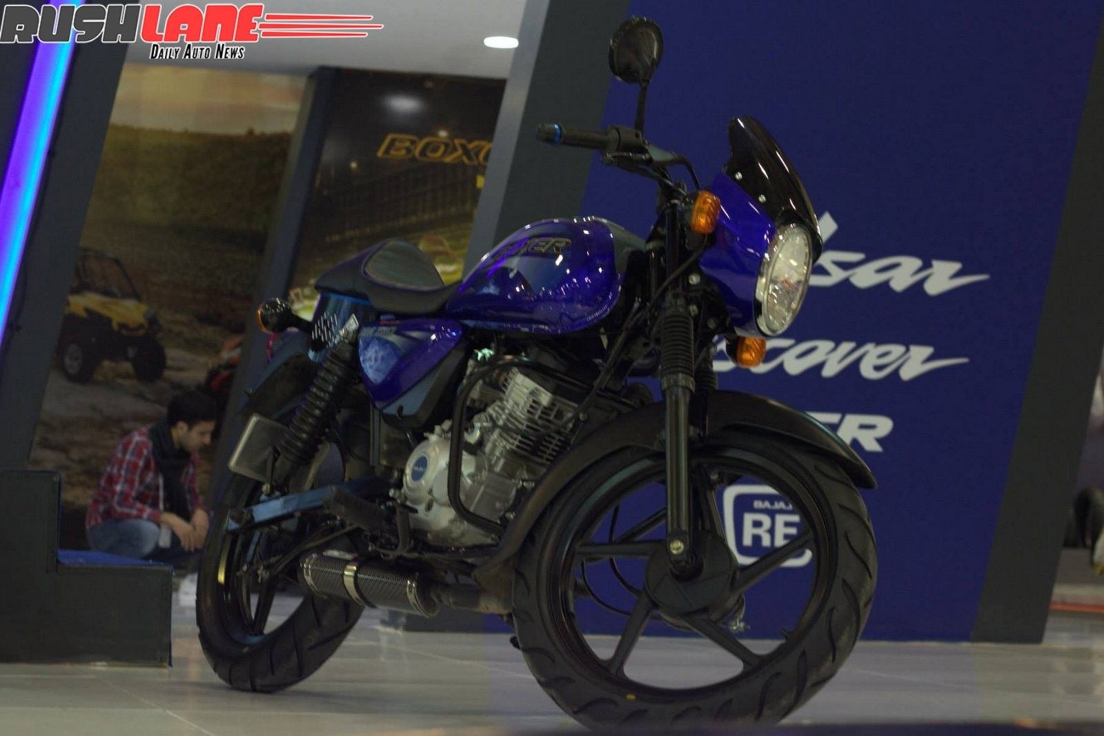 Clear Pics Of Bajaj Cafe Racer Boxer 150 Motorcycle Unveiled