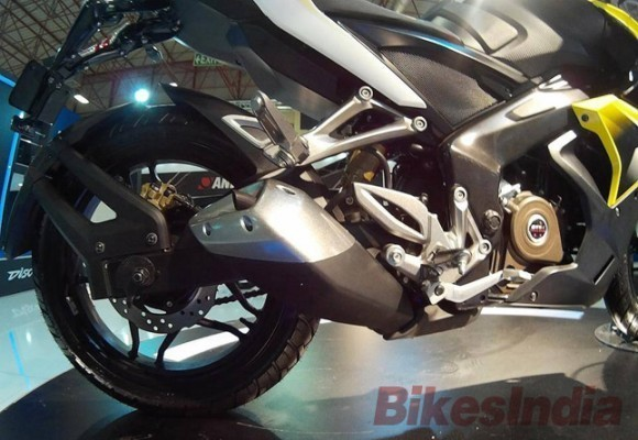 Bajaj Pulsar 200SS showcased in Turkey rear alloy wheels