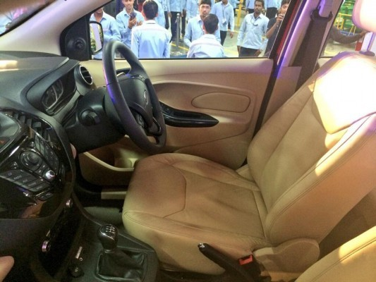 Ford Figo Aspire compact sedan interiors