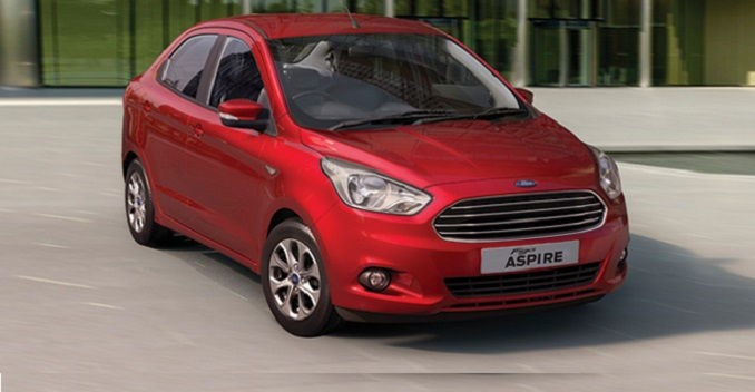 Ford Figo Aspire sedan front picture