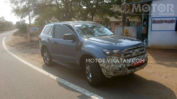 New Ford Endeavour spied in India