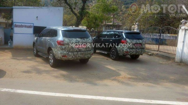New Ford Endeavour spied in India rear