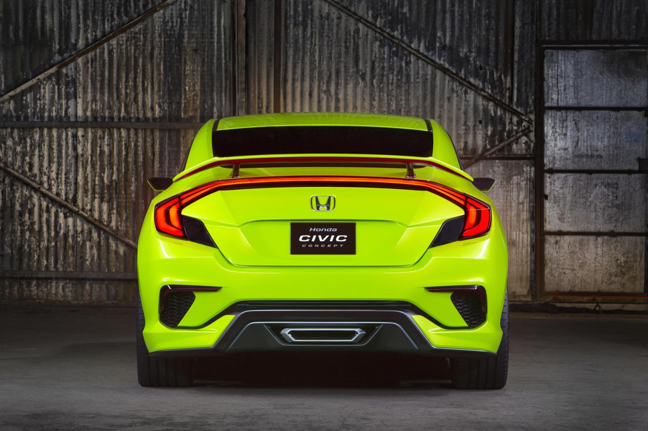 new honda civic concept unveiled at new york auto show. Black Bedroom Furniture Sets. Home Design Ideas