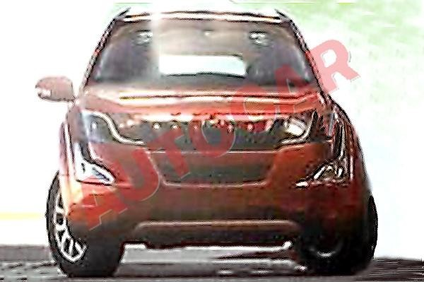 Mahindra XUV 500 facelift headlamps