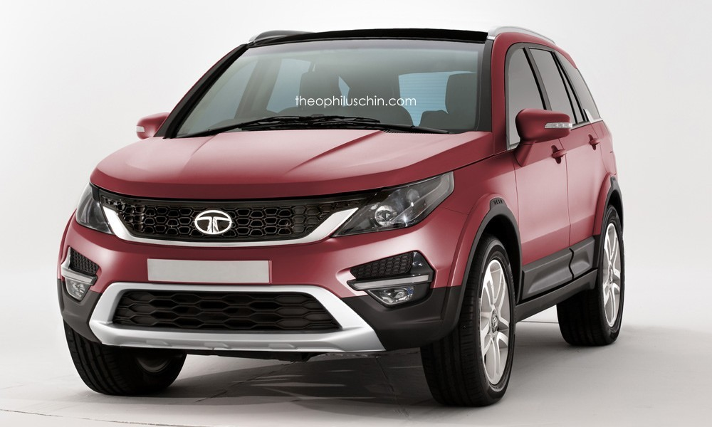 Upcoming Tata Q501 SUV based on Land Rover Discovery Sport rendered