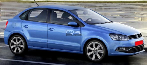 Volkswagen Polo compact sedan rendered