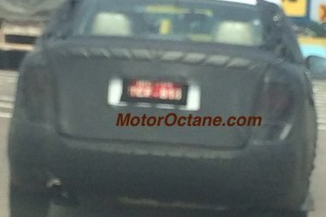 Volkswagen compact sedan spied rear