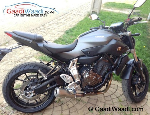 Yamaha MT-07 spied in India