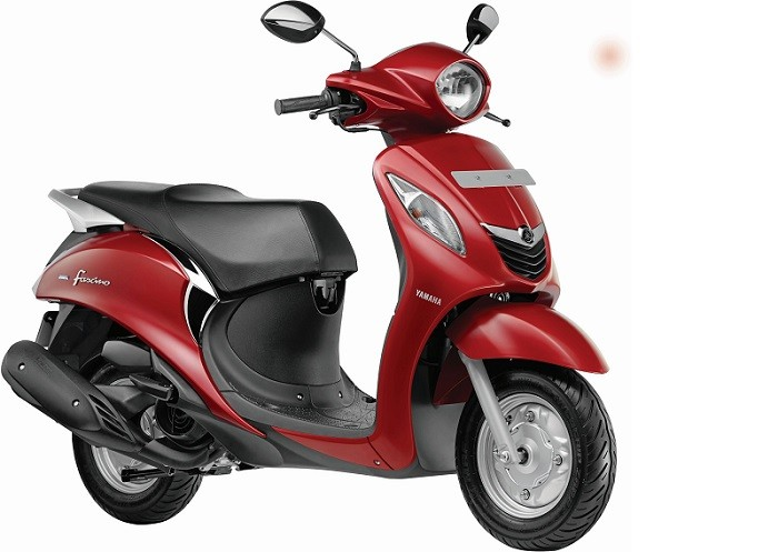New Yamaha Fascino Scooter Red Color Pic